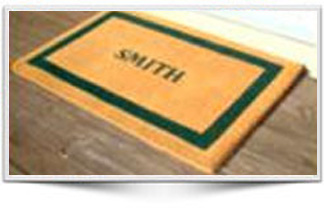 BORDERED FULL NAME MAT
