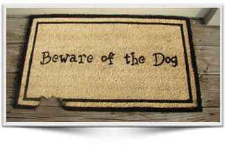 BEWARE OF DOG MAT